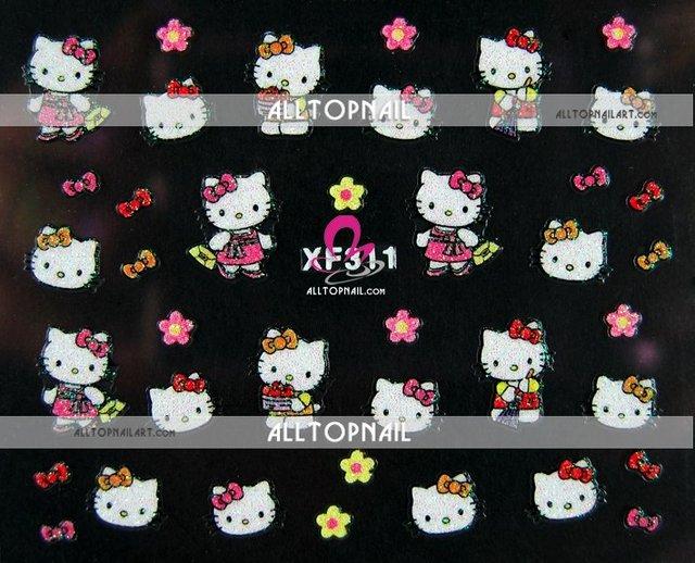 Aliexpress Buy Hello Kitty 3d Nail Art Stickers Agrade 250pcs