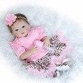 57 cm bebés reborn muñecas juguetes bonecas bebe menina de menina de silicona renacer muñeca regalo de los niños pueden entrar en baño de agua juguetes