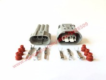 20 Sets 3 Pin Female Male Sumitomo 090 TS Alternator Wire Connector Electrical Connector 6188-0282 6189-0443 For Toyota Lexus