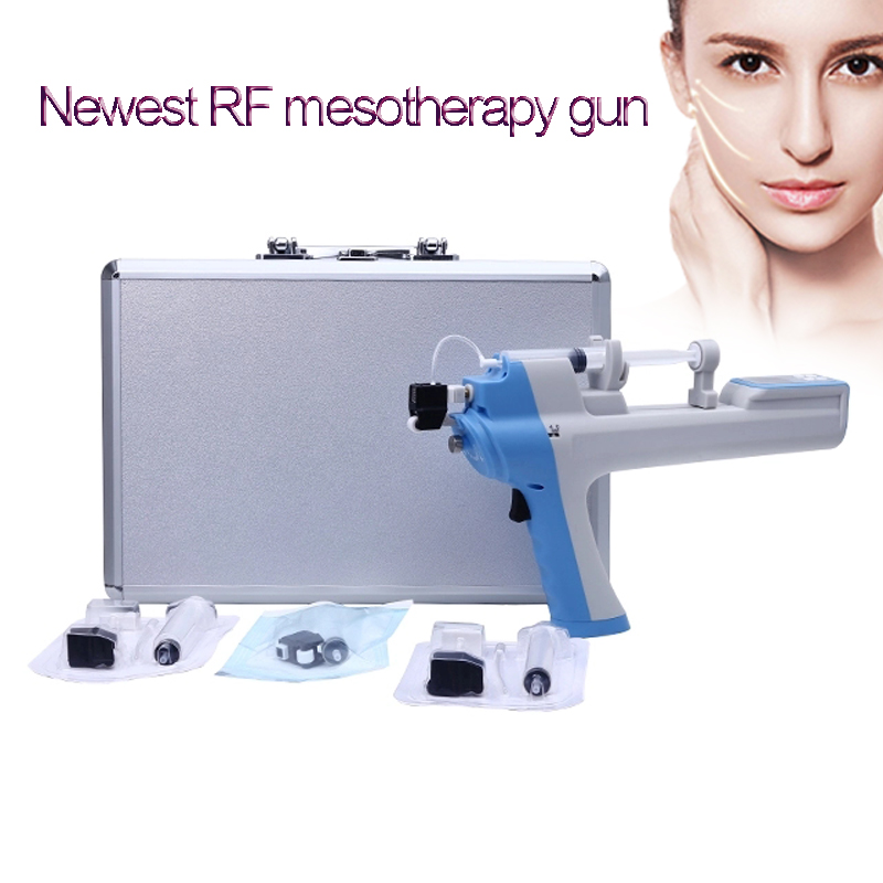 Newest Fine Line Removal RF Vanadium Titanium Mesotherapy Machine With Filters No-needle Meso Injector Gun Skin Import Beauty