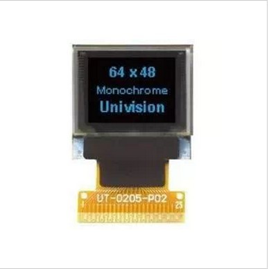 2PCS LOT 0 66 inch blue dot matrix OLED display module with SSD1306