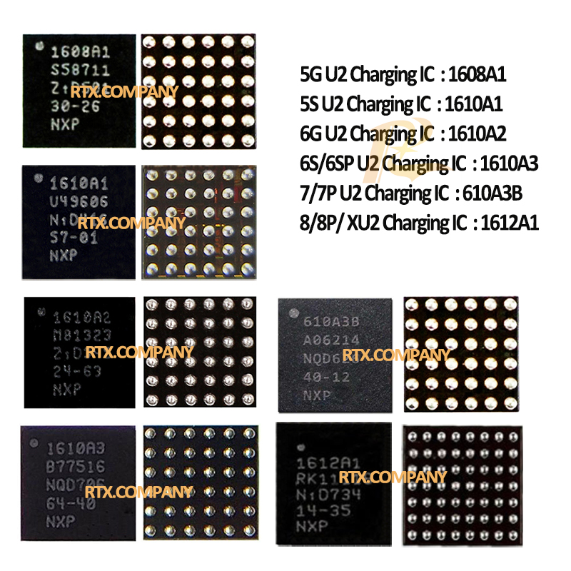 Chip for iPhone 6 5pcs//lot USB Charger IC 1610A2 U2 iPhone 6 Plus Used