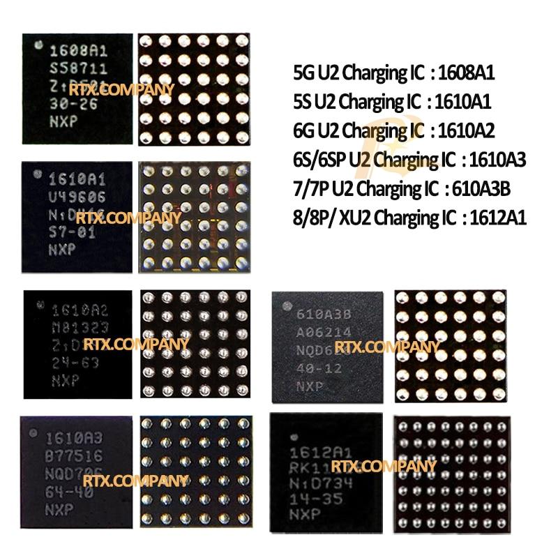 1608A1 1610A1 1610A2 1610A3 610A3B 1612A1 USB Charger IC For IPhone 5G 5s 6G 6plus 6s 6splus 7 7plus 8 8 Plus X XS MAX XR U2 IC