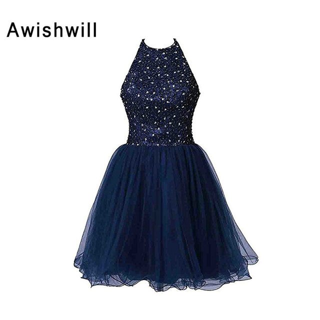 Vestidos de fiesta color azul marino corto