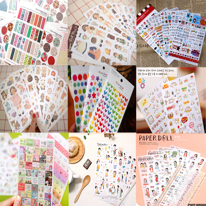 Special Offers 1 Lot 1 Set 6 Sheets Diy Scrapbooking Crafts Paper