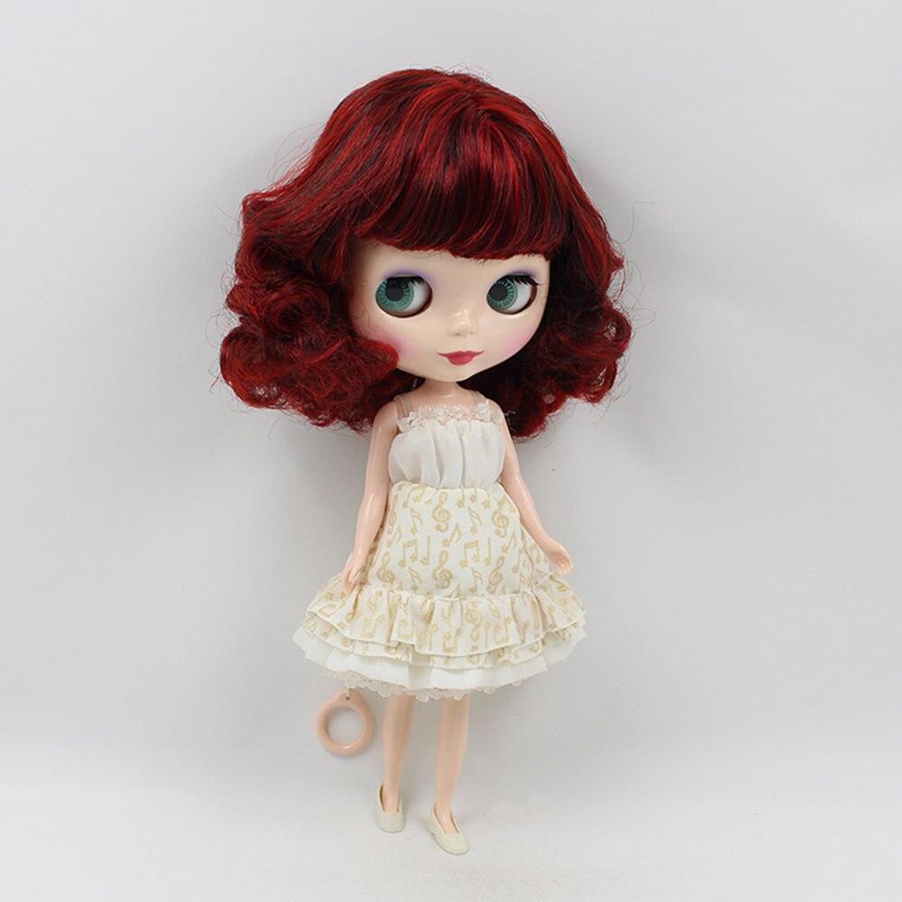Blyth pop normale lichaam, rood haar met pony bob haar stijl, factory130MMBL12489103blyth het geschikt voor meisje pop Kind gift-in Poppen van Speelgoed & Hobbies op  Groep 3