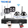 4CH 1080P Wireless NVR Kit Plug&Play P2P 2.0MP 1.0MP CCTV System Outdoor indoor IR 20m Night Vision IP Camera Surveillance Kits