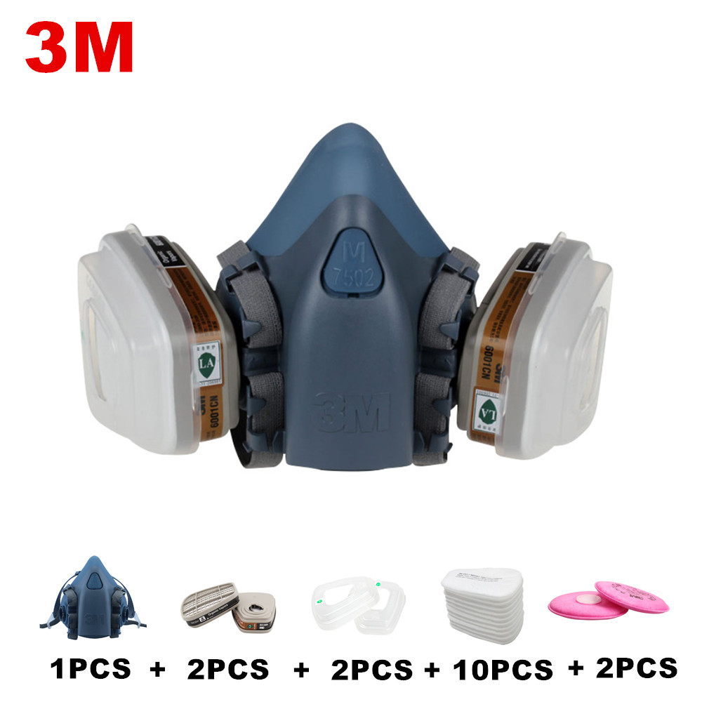Fire Protection Fire Respirators Earnest 3m7502 Of Reusable Respirator Mask/ Gas Mask Portable Respirator Protective Fire Masks Luxuriant In Design
