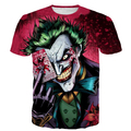 Newest Comics Deadpool Suicide Squad T Shirts Men Women Harajuku Tee Shirts Harley Quinn joker 3D t shirt Anime Prints tshirts