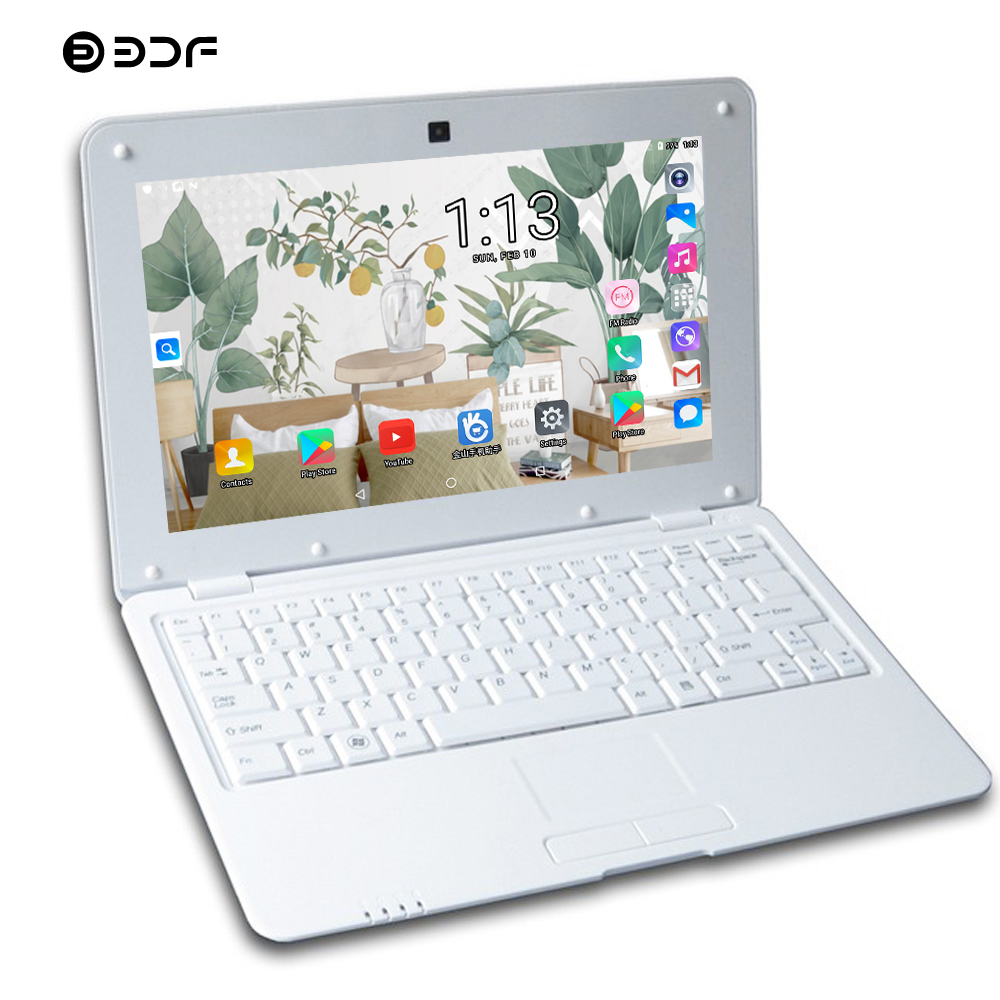 BDF Notebook 10.1 Inch Original Design Android 6.0 Laptop Quad Core WiFi Mini Netbook Laptop Keyboard Mouse Pc Tablets Tablet 10