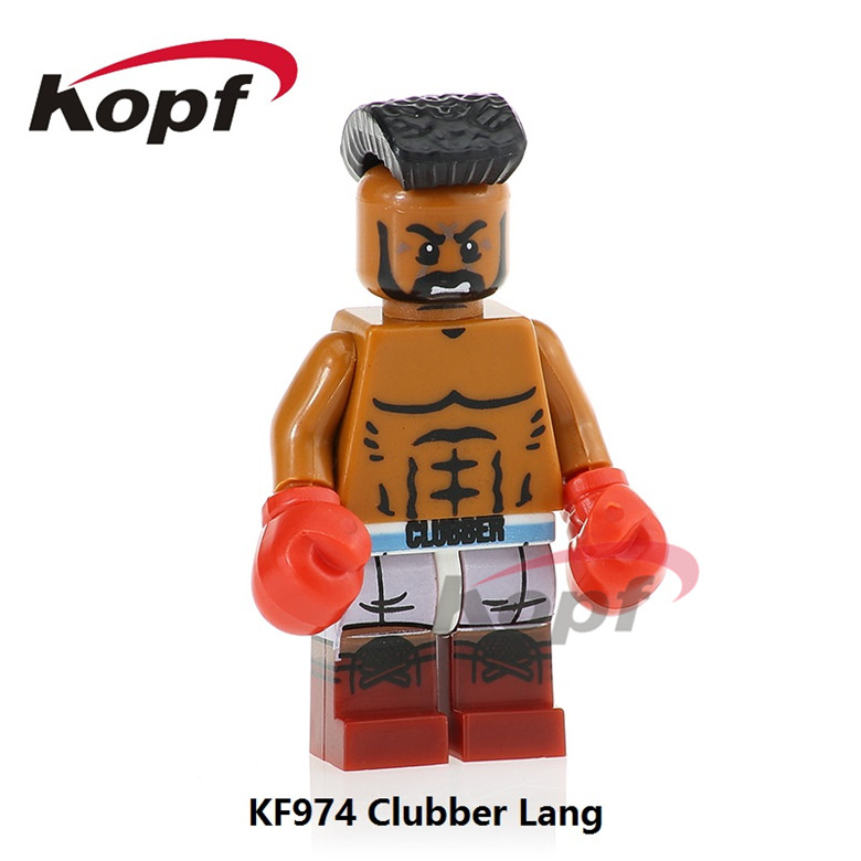 20Pcs KF974 Building Blocks Super Heroes Clubber Lang Carnage Spiderman Hulk Hogan Model Bricks Education Toys for children