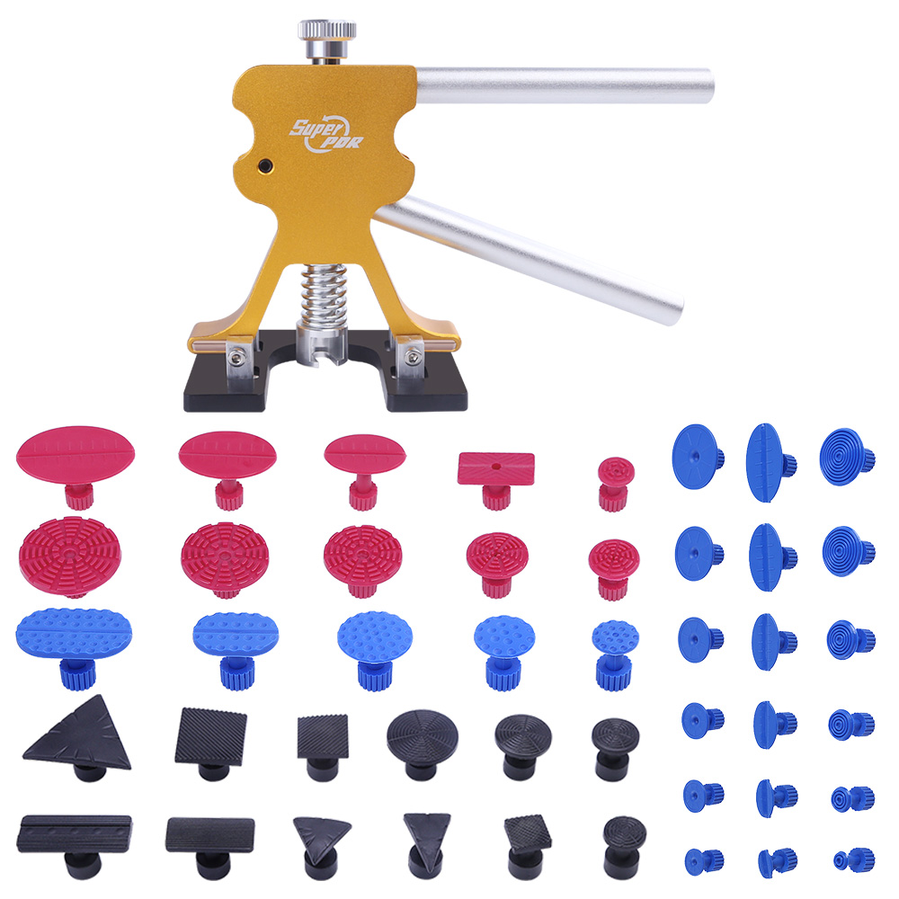 Super PDR Tools Car Dent Puller Suction Cups Glue Tabs Pulling Paintless Dent Lifter Repair Kit Tools Auto Pullers Hand Tool Set pdr tool kit for pop a dent 57pcs car repair kit pdr tools pdr line board dent lifter set glue stricks pro pulling tabs kit
