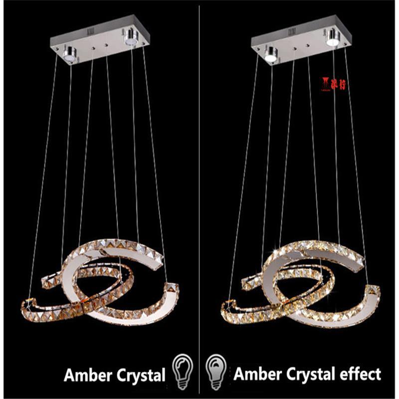 YANGHANG Chandelier LED Crystal Ring Chandelier Ring Crystal Light Fixture luster Chandelier Ceiling LED Lighting Circles Lamp in Ceiling Lights from Lights Lighting