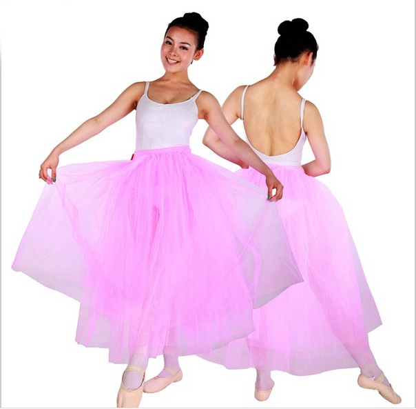 Pink/White Long Soft Tulle Skirts Adult Ballet Practice Wear Ballerina Costumes Ballet Romantic Skirt  sc 1 st  AliExpress.com & Pink/White Long Soft Tulle Skirts Adult Ballet Practice Wear ...