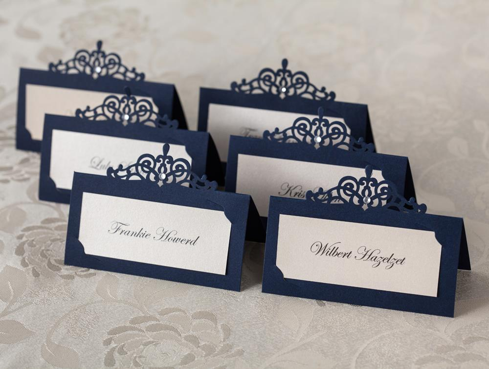 Online Shop 24pcs Blue Place Card Holder Table Centerpieces Number ...