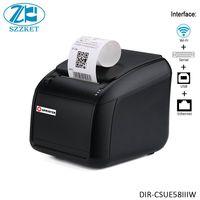 Impresora de escritorio de 58mm impresora térmica WIFI multiinterfaces con cable  USB y serial impresora de tickets pequeña impresora térmica