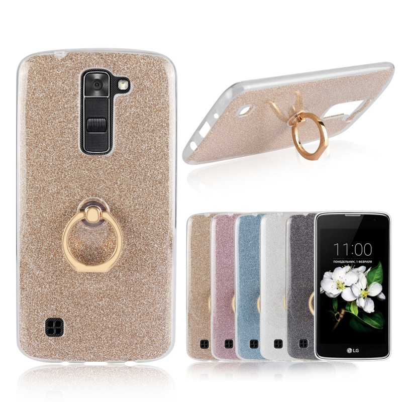 Phone Cases For LG K8 2016 Phoenix 2 K350N Stand Ring