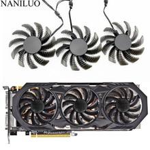 3pcs/lot 75MM PLD08010S12H GTX970 VGA GPU Cooler Fan Apply For Gigabyte GV-N970WF3 GV-N970G1 GAMING Graphics Cards AsReplacement 2pcs lot t128010sm pld08010s12h 75mm fan for gigabyte graphics card cooler cooling fan