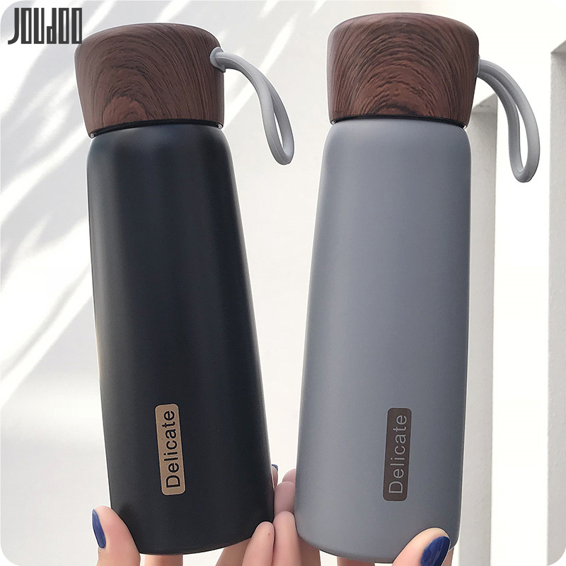 JOUDOO 500ML Stainless Steel Thermocup Brief Thermos Cup BottleVacuum Thermal Mug Birthday Couple Gift 35