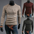 free shipping Mens Retro Round neck Jumper  Sweater Top pull over cash crew neck size M-2xl
