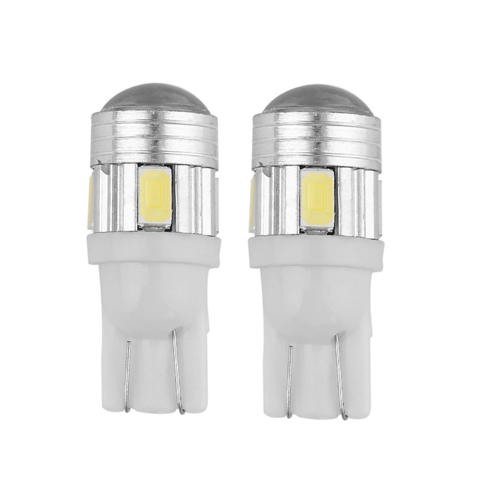 New ICOCO 2pcs T10-5630 6SMD Heat Resistant Toughened Glass LED Strong Flashing Lighting Car Width Lamp Super Bright LED lights