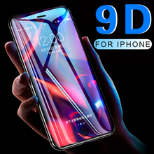 9D Full coverage protective glass for iPhone 6 6S 7 8 plus X XR XS MAX glass on iphone 7 8 6 X XR XS MAX screen protector Temper