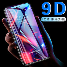 9D Full coverage protective glass for iPhone 6 6S 7 8 plus X XR XS MAX glass on iphone 7 8 6 X XR XS MAX screen protector Temper(China)