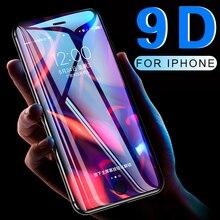 9D Volledige Dekking Beschermende Glas Voor Iphone 6 6S 7 8 Plus X Xr Xs Max Glas Op Iphone 7 8 6 X Xr Xs Max Screen Protector Temper