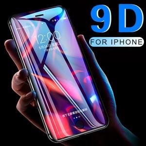 Image 1 - 9D מלא כיסוי מגן זכוכית עבור iPhone 6 6S 7 8 בתוספת X XR XS מקס זכוכית על iphone 7 8 6 X XR XS מקסימום מסך מגן רוח