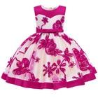 2019 Flower Embroidery Baby Girl Dress 3M-24M 1 Years Baby Girls Birthday Dresses Vestido birthday party princess dress