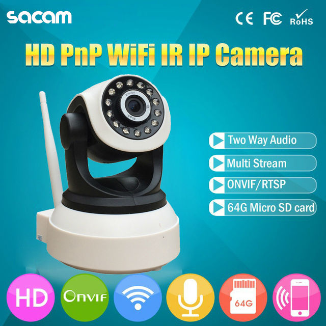 WiFi IP Security Camera P2P Wireless CCTV Camera Home Security Surveillance ONVIF PTZ Two-way Audio IR-Cut Night Vision Webcam