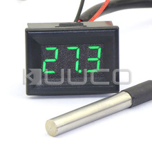 Big discount Digital Meter -55 ~125 Celsius Degree Green Led Digital Thermometer DC 12V 24V Temperature for Car/Water/Air/Indoor/Outdoor etc