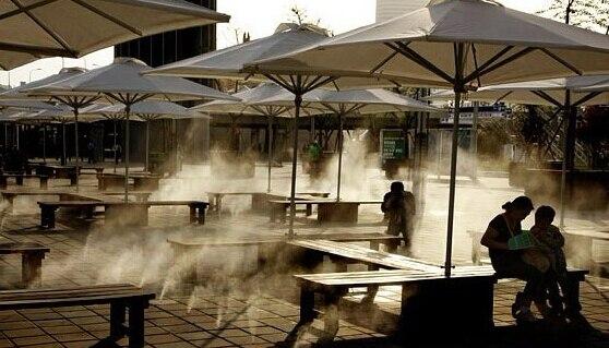 7L / MIN. Sistem de răcire în aer liber cu putere mare cu duză de alamă de 120 buc pentru restaurant mic Sistem de răcire cu ceață cu 120 buc