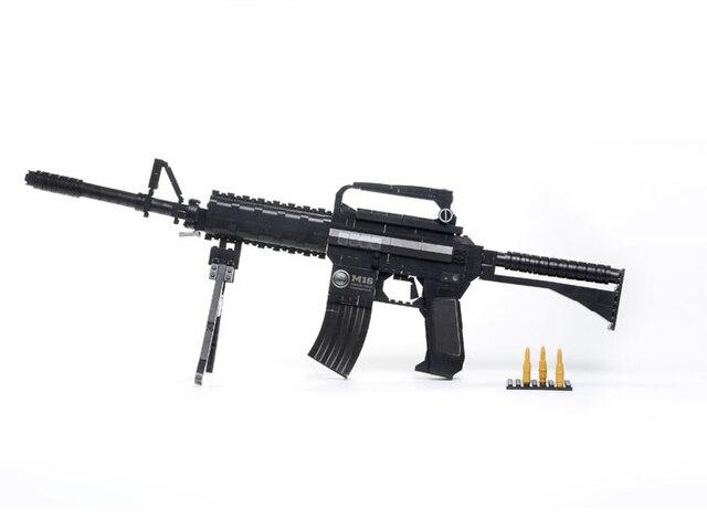 Learning & Education Ausini Blocks Guns Model Building Toys 524 Pcs  Bricks Gun Series M16 / Classic Toys and Children's Product