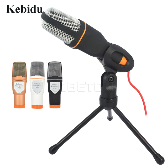 Kebidu Professional SF-666 Condenser Microphone Sound Podcast Studio Microphones with PC stent for Computer PC Karaoke 3.5mm