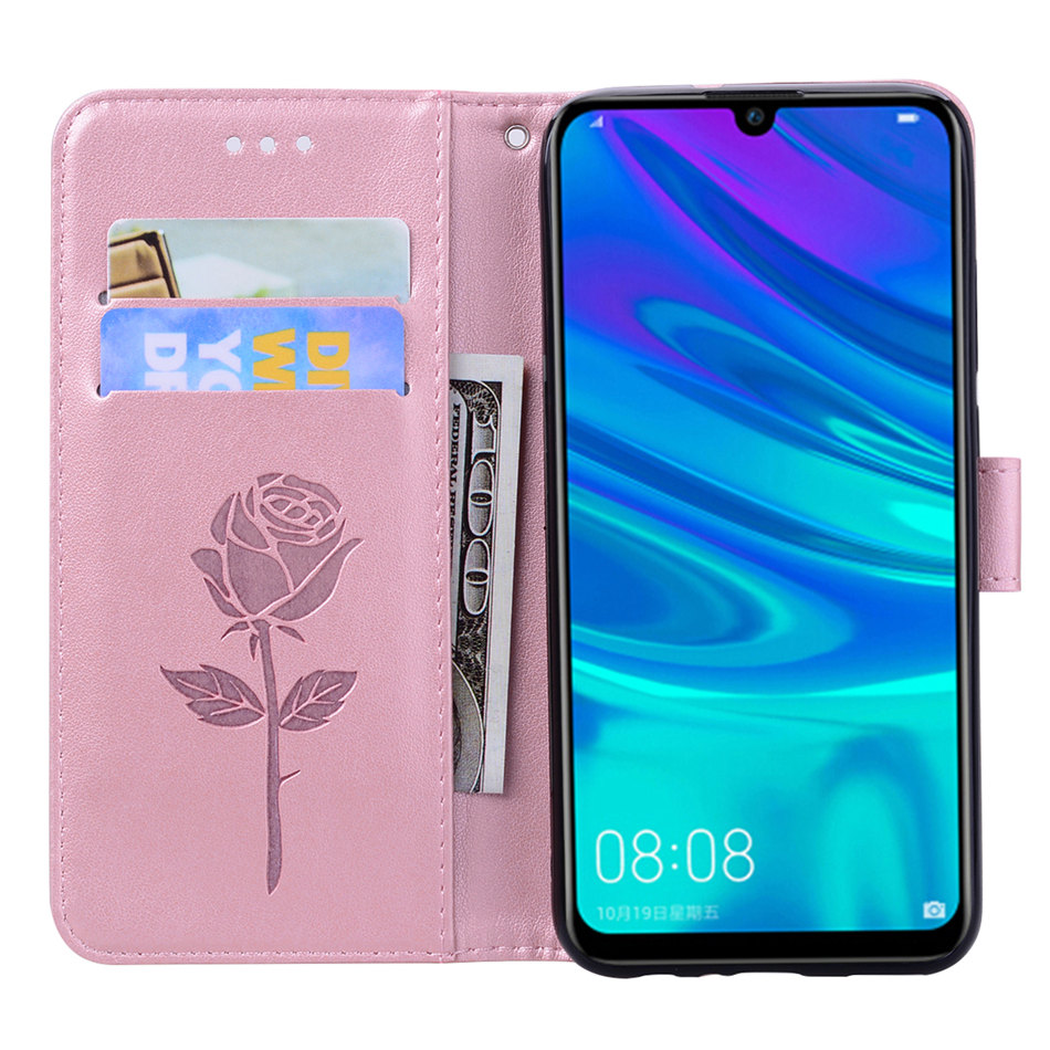 Retro 3D Rose Flowers Case For Huawei P8 P9 Lite Mini 2017 Honor 6A 6X 7X 8 Lite Y3 Y5 Y6 2017 Wallet Card Pocket Cover Bag D17E in Wallet Cases from Cellphones Telecommunications