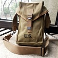 US Army WWII WW2 Canvas 1945 US Military Ammunition Pack Hunting Ammo Pouch Bag Khaki US/104105