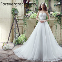 Forevergracedress Cheap High Quality Wedding Dress Sweetheart Sleeveless Applique Long Bridal Gown Plus Size Custom Made