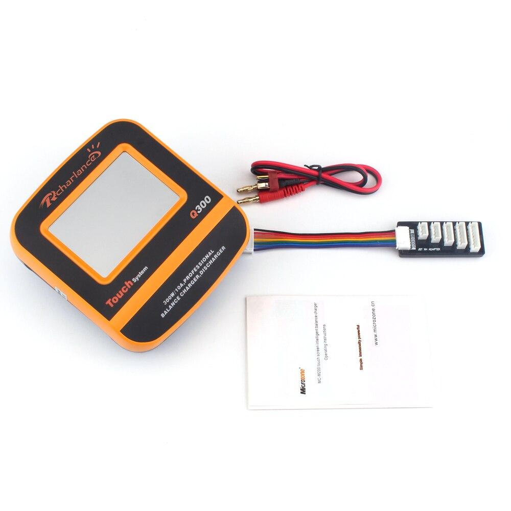 Rcharlance Équilibre Chargeur Q300 300 w 10A 2-6 s DC11V-28V Écran Palpable pour LiPo Batterie Vie LiHv NiMH niCd Pb Batterie