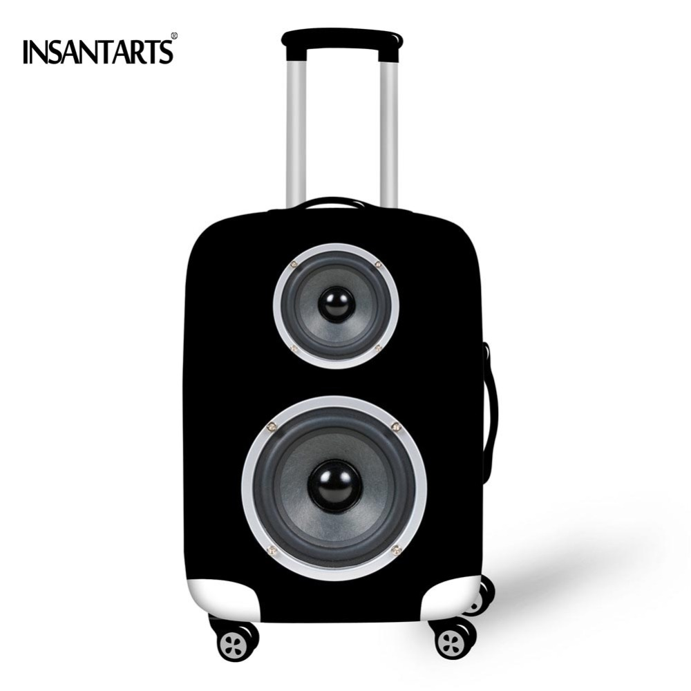 "INSTANTARTS New Brand Suitcase Cover For 18""-30"" Case Fashion Speaker Printed Travel Luggage Protective Cover Dust Rain Suitcase"