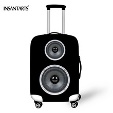 """INSTANTARTS New Brand Suitcase Cover For 18""""-30"""" Case Fashion Speaker Printed Travel Luggage Protective Cover Dust Rain Suitcase"""