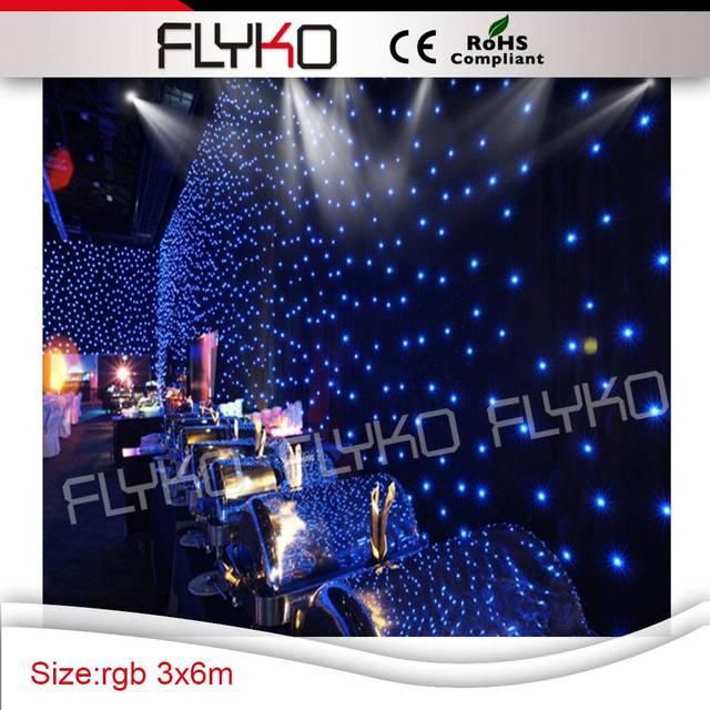Wholesale Led Flood Light Christmas Lights Led Star Curtain/led Vision  Curtain