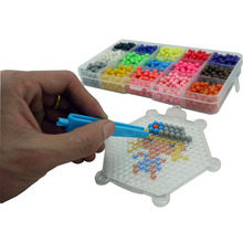 24 Colors 3D Aquabeads Puzzle Educational Toys for Children Kit Ball Game  DIY Water Spray Magic Aqua Beads Hand Making