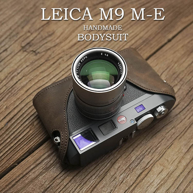 MrStone Handmade Genuine Leather Camera Case Video Half Bag For Leica M9 M9P MM
