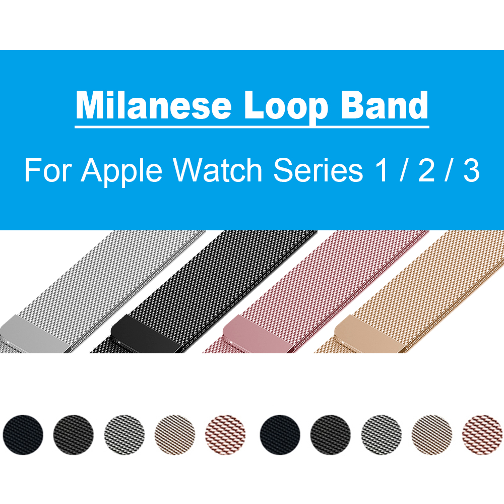 Milanese Loop Band Strap for Apple watch 42mm 38mm Replacement Watchband for iWatch Series 1/2/3 Stainless Steel Link Bracelet milanese loop watch strap men link bracelet stainless steel woven black for apple watchband 42mm 38mm iwatch free tools