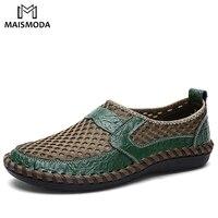 MAISMODA/2018 летние мужские туфли с дышащей сеткой, повседневная обувь без шнуровки, мужские легкие мягкие удобные туфли, большие размеры 38-47, YL245