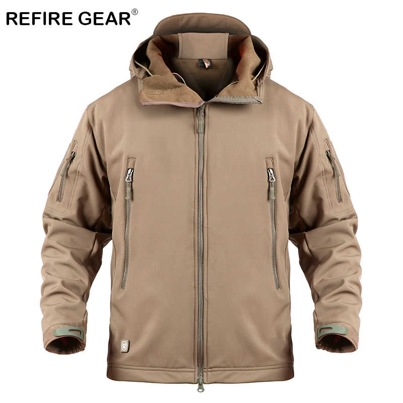 ReFire Gear rompevientos militar de concha suave para hombre, chaqueta de camuflaje táctico para exteriores, ropa de caza deportiva, chaqueta del ejército