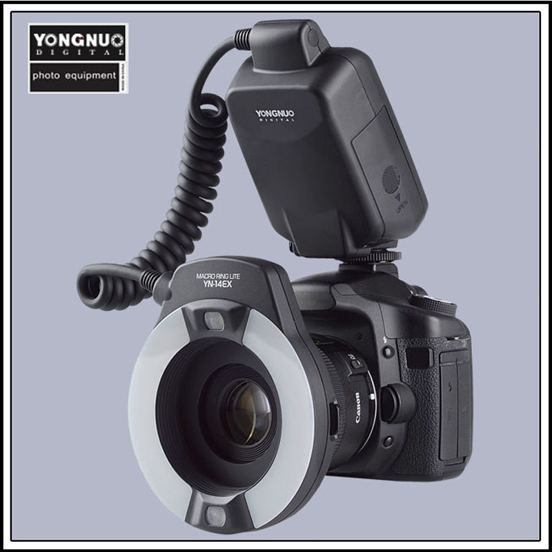 YongNuo YN-14EX YN14EX TTL Macro Ring Flash with Adapter Ring for Canon DLSR 550D 650D купить