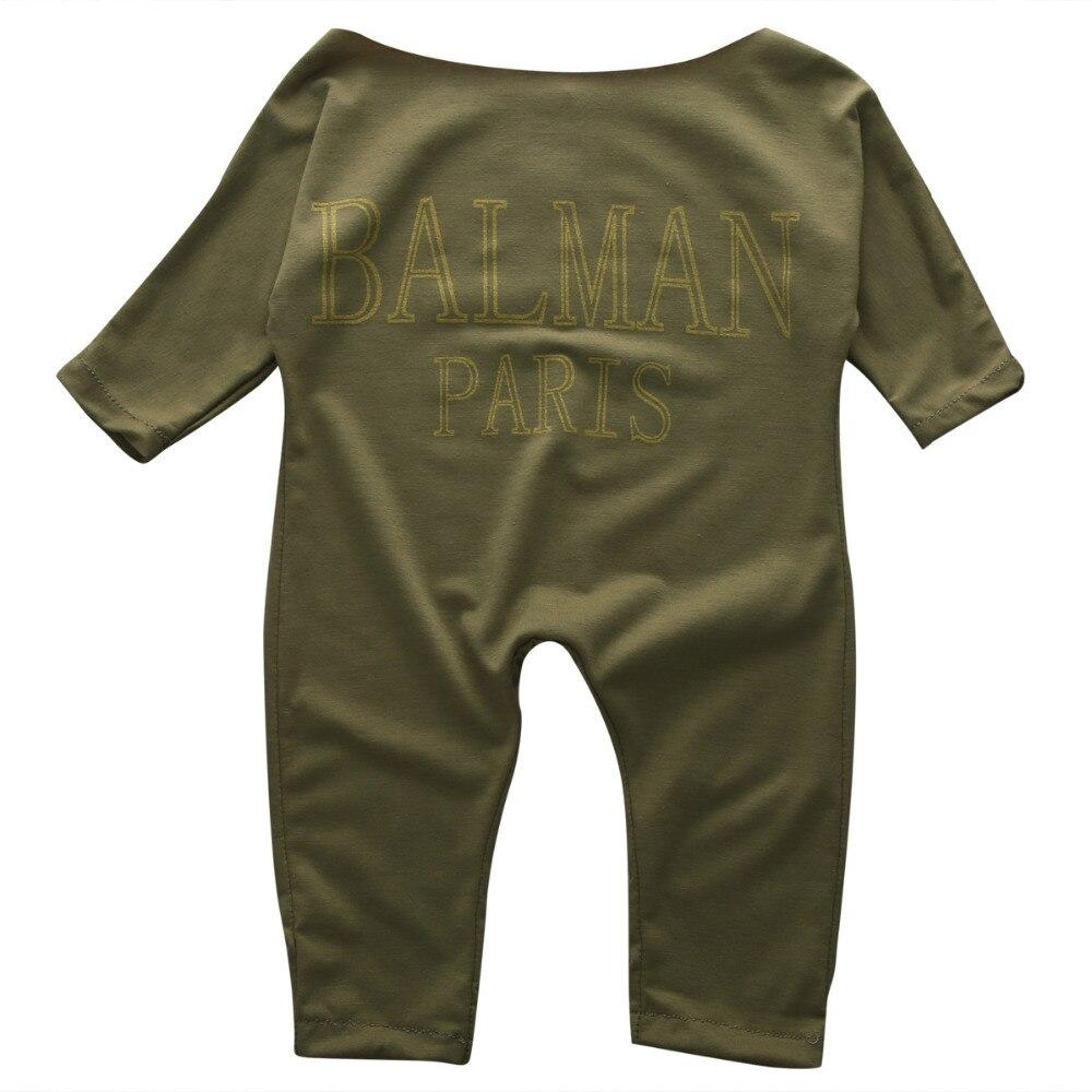Newborn Baby Jumpsuit Cotton Blend Infant Baby Girls Jumpsuit Autumn Clothes Long Sleeve Romper Letter Jumper Outfits