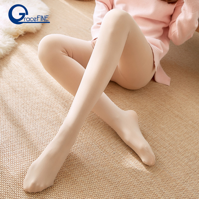 New Fashion Women's Autumn and Winter High Elasticity Thick Velvet Pants Warm   Leggings   Skin Color Push Up High Waist   Leggings
